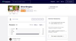 Silversingles.com rating by trustpilot