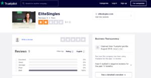 elitesingles rating by trustpilot