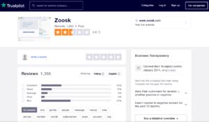 zoosk.com rating by trustpilot